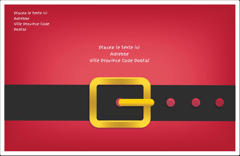 Père Noël minimaliste Étiquettes d'expédition - gabarit prédéfini. <br/>Utilisez notre logiciel Avery Design & Print Online pour personnaliser facilement la conception.