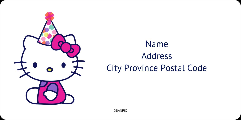 "2"" x 4"" Shipping Label - Hello Kitty Birthday"