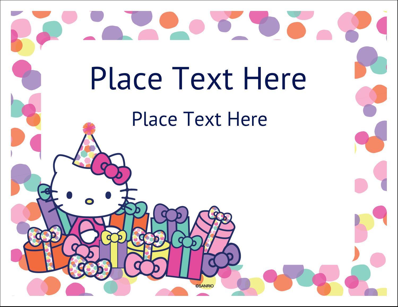 "5½"" x 4¼"" Note Card - Hello Kitty Birthday"