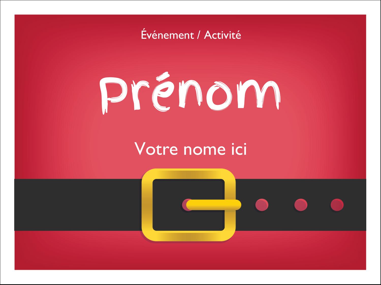 Père Noël minimaliste Badges - gabarit prédéfini. <br/>Utilisez notre logiciel Avery Design & Print Online pour personnaliser facilement la conception.