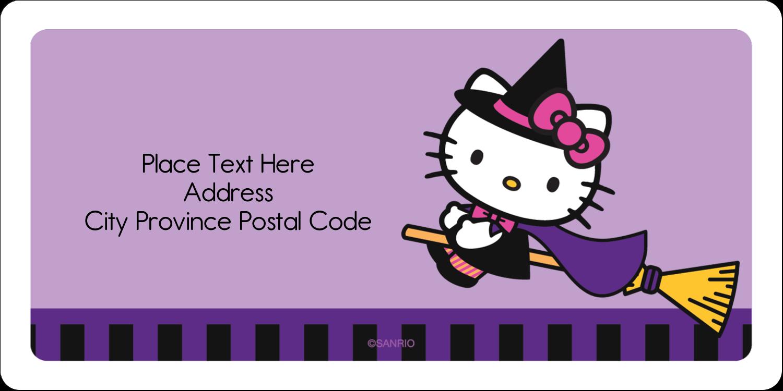 "2"" x 4"" Shipping Label - Hello Kitty Halloween"