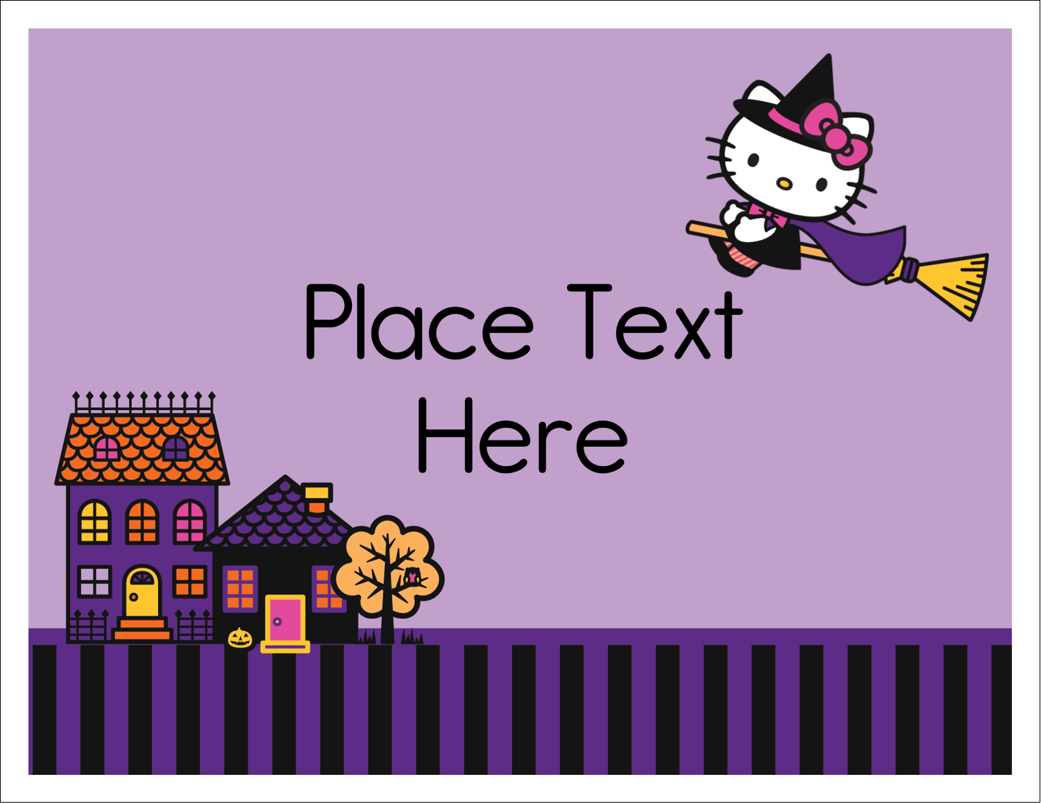 "5½"" x 4¼"" Note Card - Hello Kitty Halloween"
