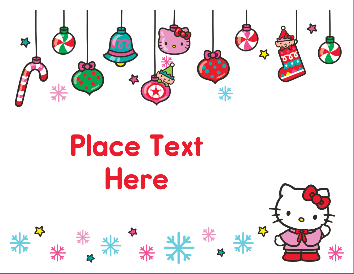 "5½"" x 4¼"" Note Card - Hello Kitty Holiday"