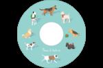 Joyeuses bêtes Étiquettes Pour Médias - gabarit prédéfini. <br/>Utilisez notre logiciel Avery Design & Print Online pour personnaliser facilement la conception.