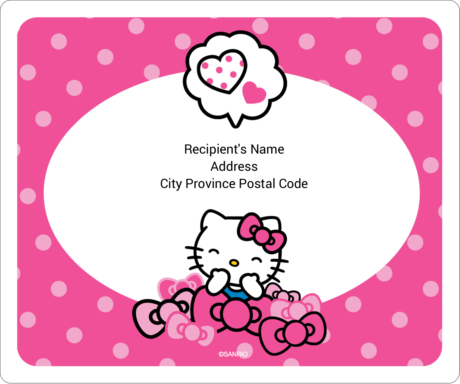 "3⅓"" x 4"" Shipping Label - Hello Kitty Giggles"