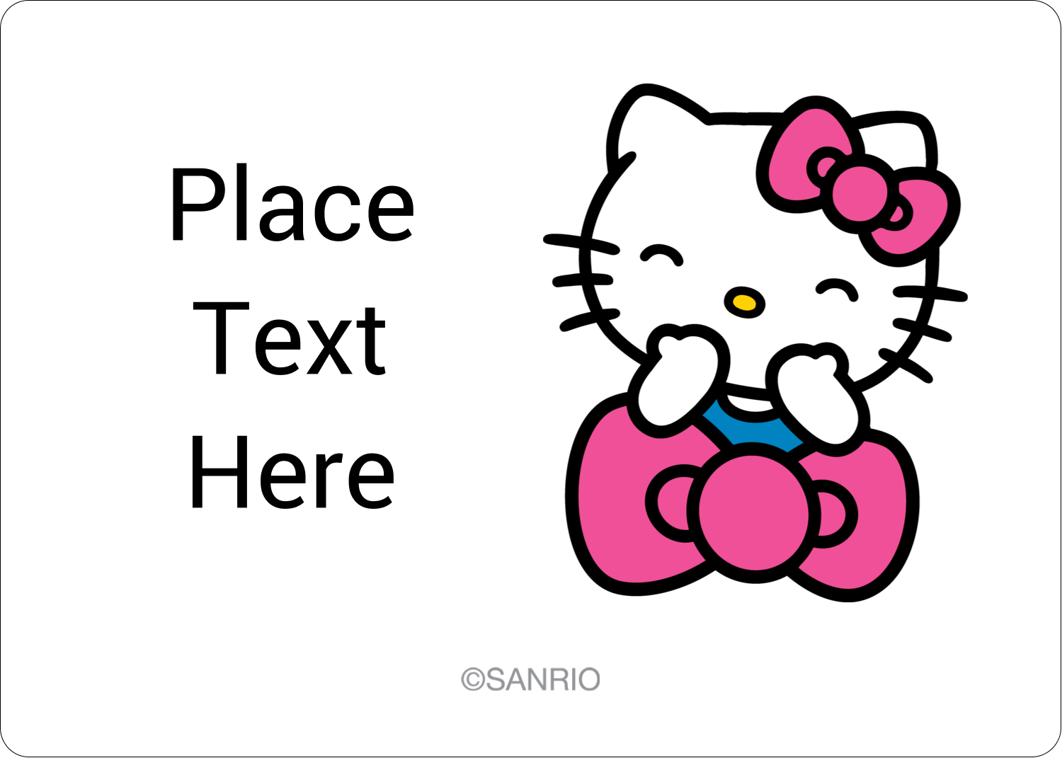 "1¾"" x 1¼"" ID Label - Hello Kitty Giggles"