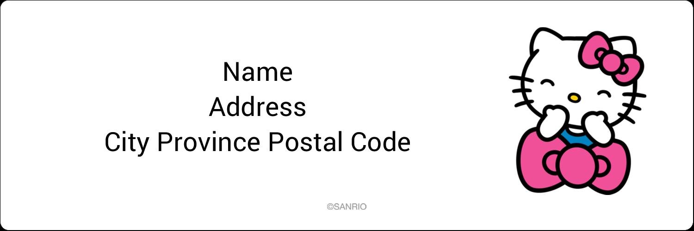 "1⅓"" x 4"" Address Label - Hello Kitty Giggles"