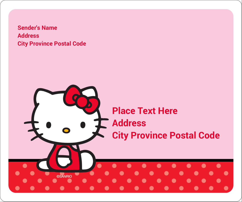 "3⅓"" x 4"" Shipping Label - Supercute Hello Kitty"