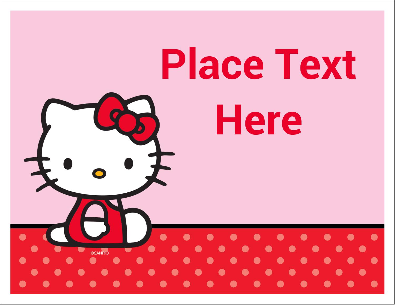"""5½"""" x 4¼"""" Note Card - Supercute Hello Kitty"""