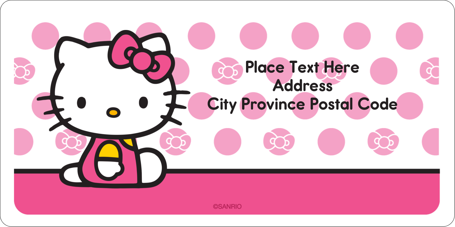 "2"" x 4"" Shipping Label - Pretty in Pink"