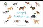 Joyeuses bêtes Cartes de souhaits pliées en deux - gabarit prédéfini. <br/>Utilisez notre logiciel Avery Design & Print Online pour personnaliser facilement la conception.