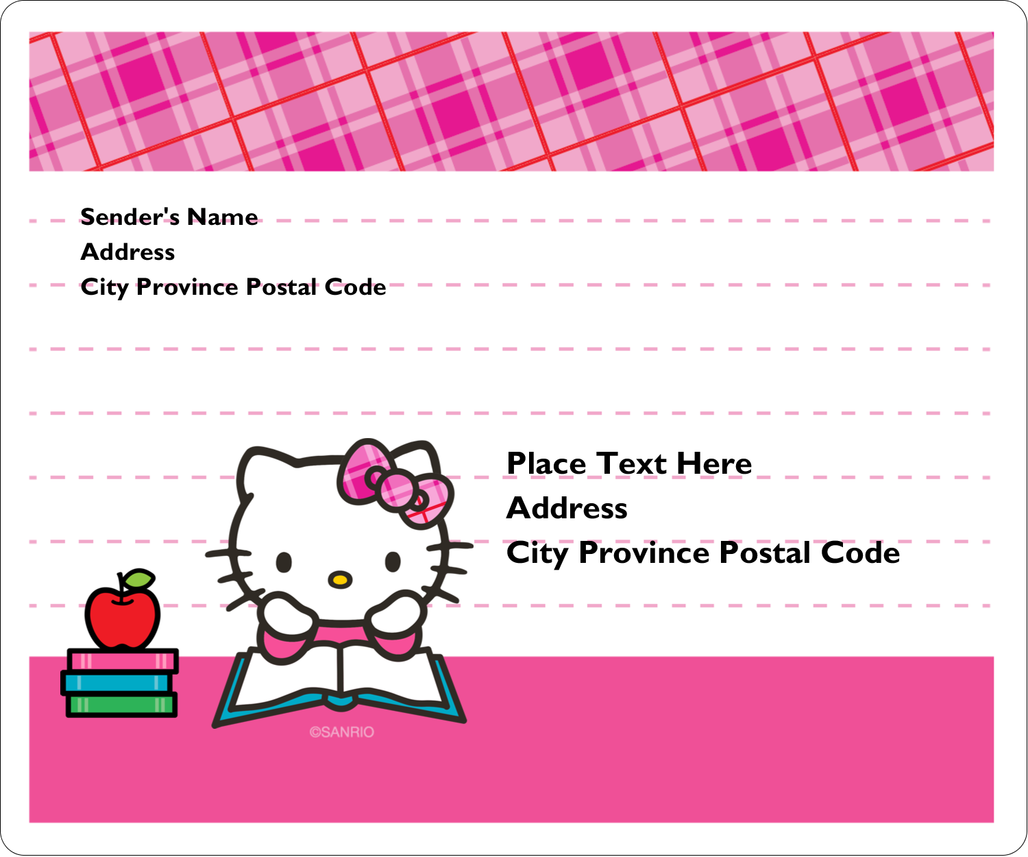 """3⅓"""" x 4"""" Shipping Label - Time to Study"""
