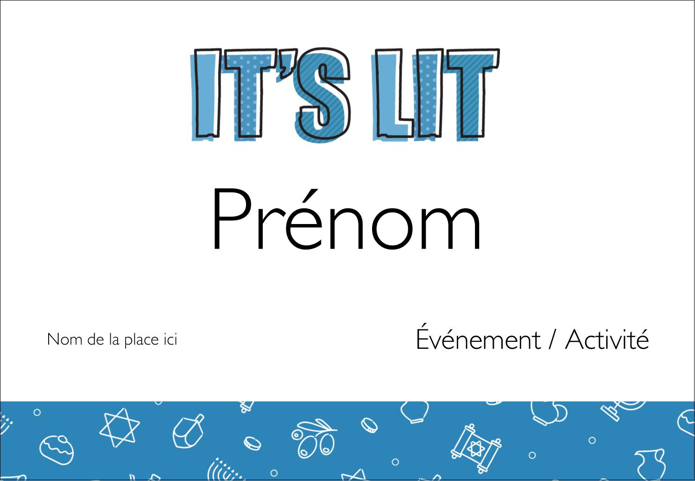 Hanoukka, la fête des Lumières Badges - gabarit prédéfini. <br/>Utilisez notre logiciel Avery Design & Print Online pour personnaliser facilement la conception.