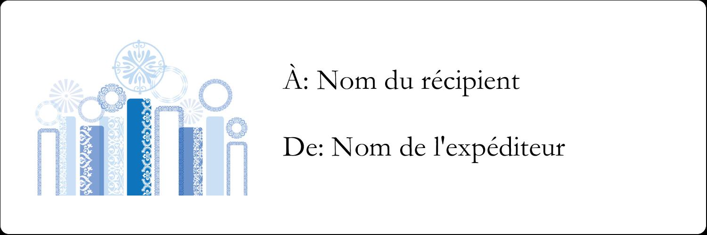 "8½"" x 11"" Intercalaires / Onglets - Chandelier bleu de Hanoukka"