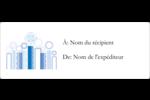Chandelier bleu de Hanoukka  Étiquettes d'adresse - gabarit prédéfini. <br/>Utilisez notre logiciel Avery Design & Print Online pour personnaliser facilement la conception.
