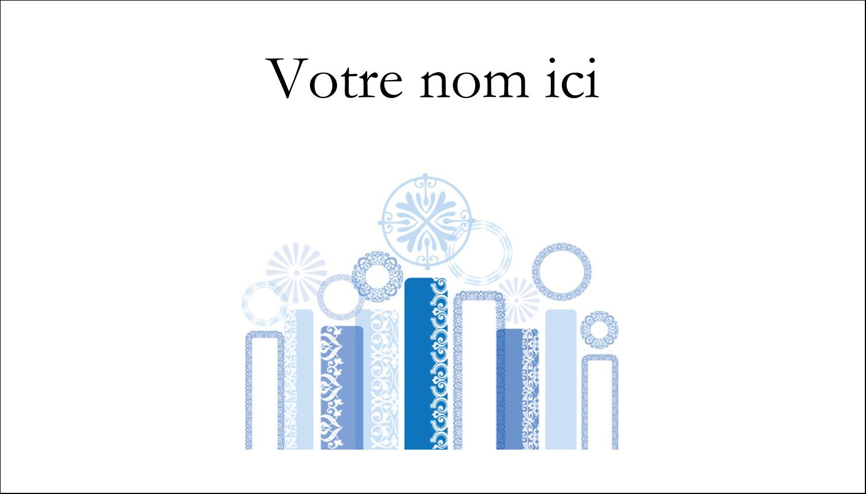 "2"" x 3½"" Carte d'affaire - Chandelier bleu de Hanoukka"