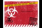 Apocalypse zombie d'Halloween Cartes Et Articles D'Artisanat Imprimables - gabarit prédéfini. <br/>Utilisez notre logiciel Avery Design & Print Online pour personnaliser facilement la conception.
