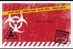 Apocalypse zombie d'Halloween Cartes de souhaits pliées en deux - gabarit prédéfini. <br/>Utilisez notre logiciel Avery Design & Print Online pour personnaliser facilement la conception.