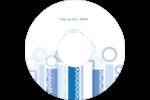Chandelier bleu de Hanoukka  Étiquettes Pour Médias - gabarit prédéfini. <br/>Utilisez notre logiciel Avery Design & Print Online pour personnaliser facilement la conception.