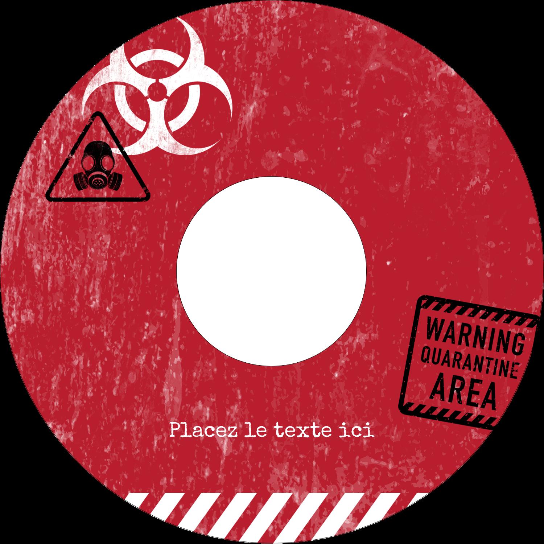 """⅔"""" x 3-7/16"""" Étiquettes de classement - Apocalypse zombie d'Halloween"""