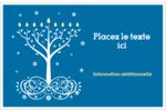 Arbre de Hanoukka Étiquettes d'expédition - gabarit prédéfini. <br/>Utilisez notre logiciel Avery Design & Print Online pour personnaliser facilement la conception.