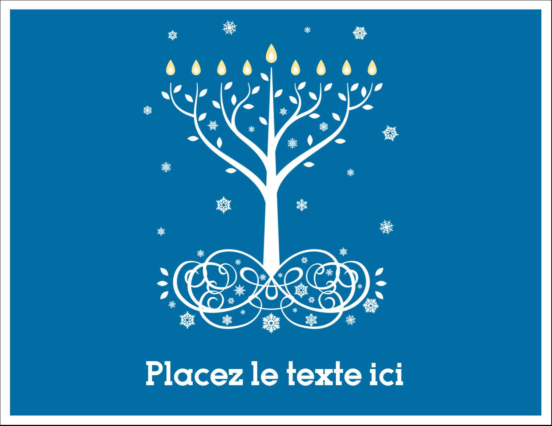 """8½"""" x 11"""" Cartes Et Articles D'Artisanat Imprimables - Arbre de Hanoukka"""
