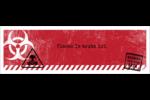 Apocalypse zombie d'Halloween Carte de note - gabarit prédéfini. <br/>Utilisez notre logiciel Avery Design & Print Online pour personnaliser facilement la conception.