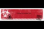 Apocalypse zombie d'Halloween Affichette - gabarit prédéfini. <br/>Utilisez notre logiciel Avery Design & Print Online pour personnaliser facilement la conception.