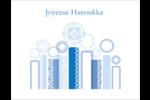 Chandelier bleu de Hanoukka  Cartes Et Articles D'Artisanat Imprimables - gabarit prédéfini. <br/>Utilisez notre logiciel Avery Design & Print Online pour personnaliser facilement la conception.