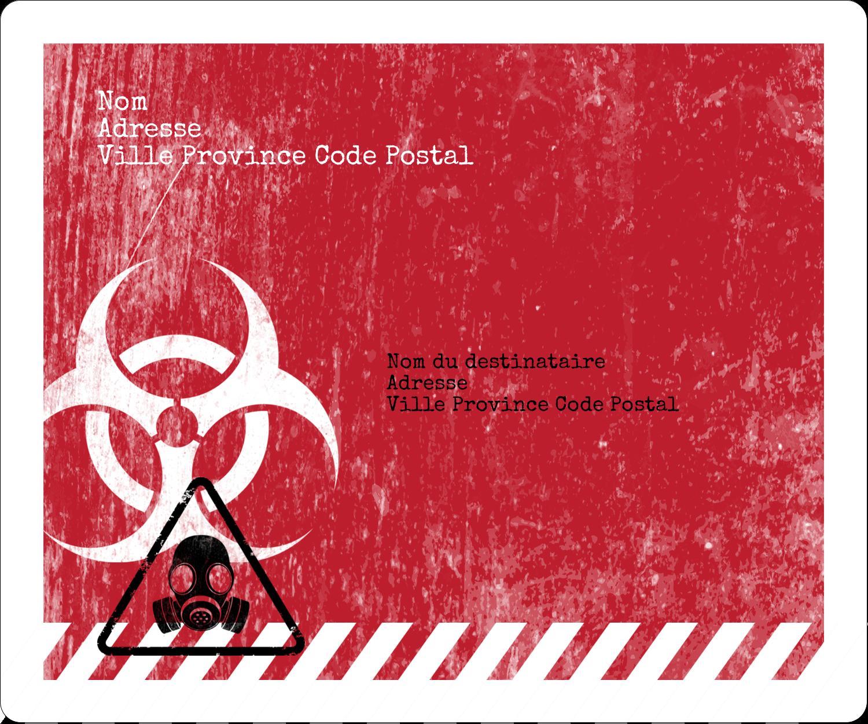"""½"""" x 1¾"""" Étiquettes D'Adresse - Apocalypse zombie d'Halloween"""