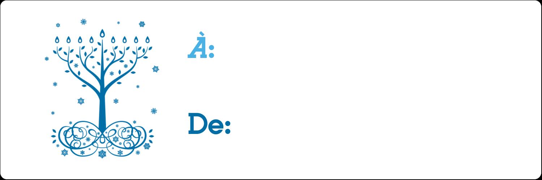 """8½"""" x 11"""" Intercalaires / Onglets - Arbre de Hanoukka"""