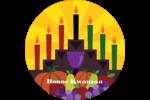 Festin de Kwanzaa Étiquettes Voyantes - gabarit prédéfini. <br/>Utilisez notre logiciel Avery Design & Print Online pour personnaliser facilement la conception.
