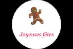 Bonhomme de pain d'épice Étiquettes Voyantes - gabarit prédéfini. <br/>Utilisez notre logiciel Avery Design & Print Online pour personnaliser facilement la conception.