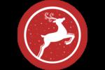 Renne de Noël dans un cercle Étiquettes Voyantes - gabarit prédéfini. <br/>Utilisez notre logiciel Avery Design & Print Online pour personnaliser facilement la conception.