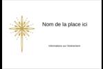 Étoile dorée de Bethléem Badges - gabarit prédéfini. <br/>Utilisez notre logiciel Avery Design & Print Online pour personnaliser facilement la conception.