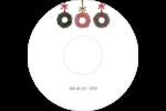 Couronnes de Noël Étiquettes Pour Médias - gabarit prédéfini. <br/>Utilisez notre logiciel Avery Design & Print Online pour personnaliser facilement la conception.