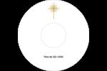 Étoile dorée de Bethléem Étiquettes Pour Médias - gabarit prédéfini. <br/>Utilisez notre logiciel Avery Design & Print Online pour personnaliser facilement la conception.