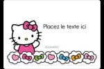 Hello Kitty Cœurs et Nœuds Étiquettes D'Identification - gabarit prédéfini. <br/>Utilisez notre logiciel Avery Design & Print Online pour personnaliser facilement la conception.