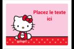 Hello Kitty super mignonne Étiquettes D'Identification - gabarit prédéfini. <br/>Utilisez notre logiciel Avery Design & Print Online pour personnaliser facilement la conception.