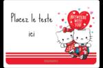 Hello Kitty et Cher Daniel Valentin Étiquettes D'Identification - gabarit prédéfini. <br/>Utilisez notre logiciel Avery Design & Print Online pour personnaliser facilement la conception.
