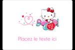 Hello Kitty Saint-Valentin - Mon cœur monte pour vous Étiquettes D'Identification - gabarit prédéfini. <br/>Utilisez notre logiciel Avery Design & Print Online pour personnaliser facilement la conception.