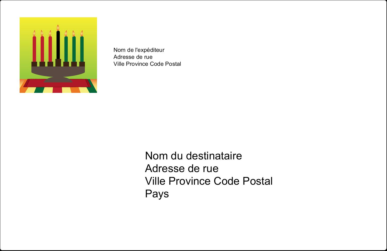 """8½"""" x 5½"""" Étiquettes d'expédition - Lueur verte de Kwanzaa"""