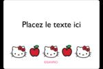 Hello Kitty adore les pommes! Étiquettes D'Identification - gabarit prédéfini. <br/>Utilisez notre logiciel Avery Design & Print Online pour personnaliser facilement la conception.