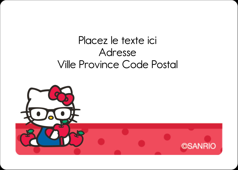"""1¾"""" x 1¼"""" Étiquettes D'Identification - Votre Ami Hello Kitty"""