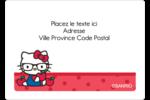 Votre Ami Hello Kitty Étiquettes D'Identification - gabarit prédéfini. <br/>Utilisez notre logiciel Avery Design & Print Online pour personnaliser facilement la conception.
