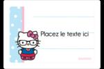 Hello Kitty avec des lunettes Étiquettes D'Identification - gabarit prédéfini. <br/>Utilisez notre logiciel Avery Design & Print Online pour personnaliser facilement la conception.