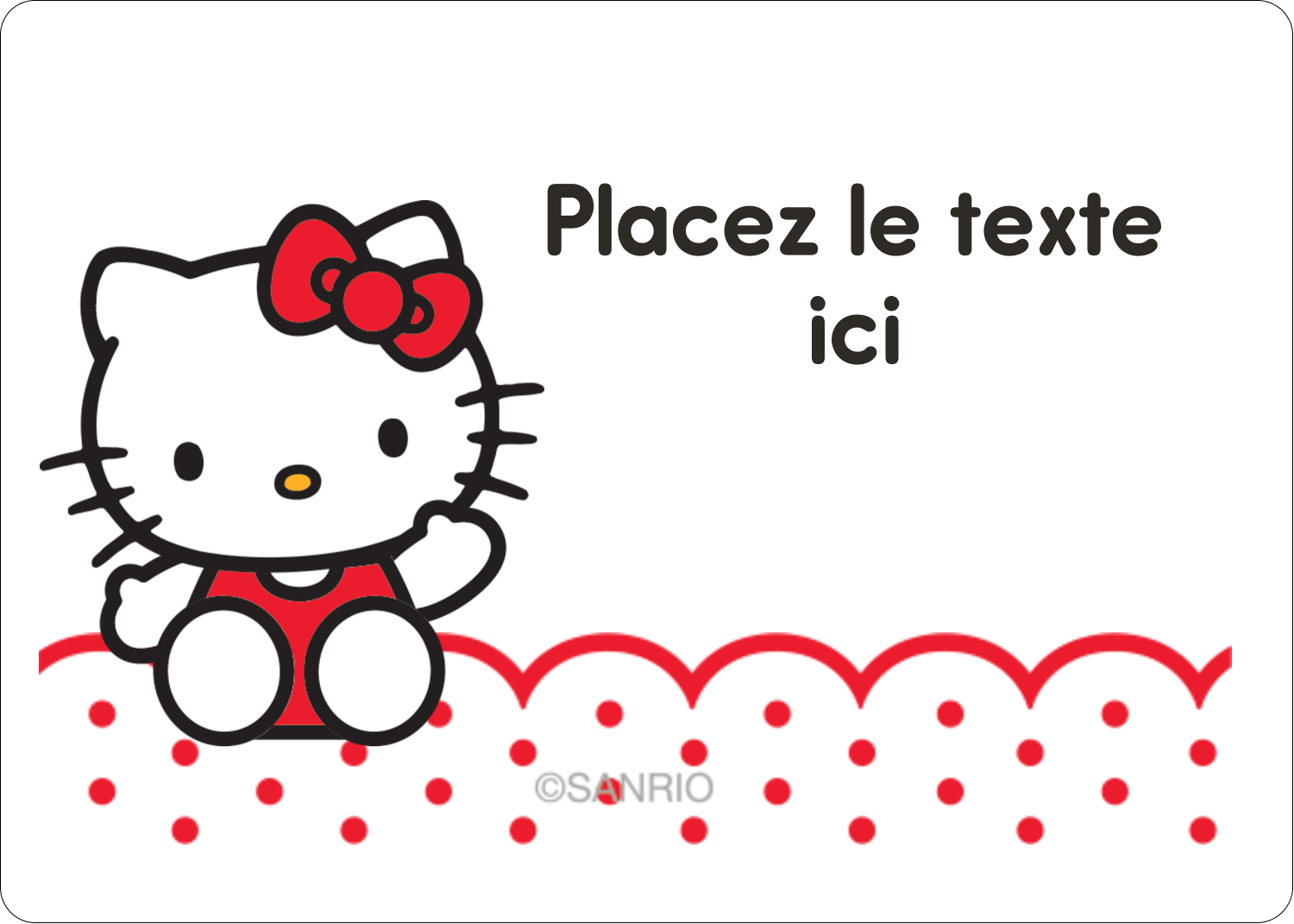 "1¾"" x 1¼"" Étiquettes D'Identification - Salut Hello Kitty"