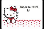 Salut Hello Kitty Étiquettes D'Identification - gabarit prédéfini. <br/>Utilisez notre logiciel Avery Design & Print Online pour personnaliser facilement la conception.