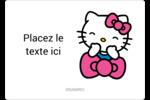 Hello Kitty rigole Étiquettes D'Identification - gabarit prédéfini. <br/>Utilisez notre logiciel Avery Design & Print Online pour personnaliser facilement la conception.