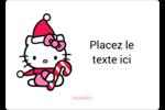 Canne en bonbon de Noël Hello Kitty Étiquettes D'Identification - gabarit prédéfini. <br/>Utilisez notre logiciel Avery Design & Print Online pour personnaliser facilement la conception.